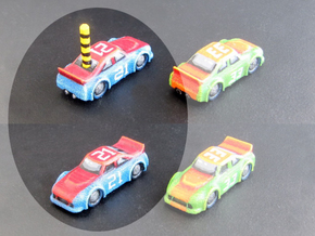 Miniature cars, NASCAR (42 pcs) - Hole variant in White Processed Versatile Plastic