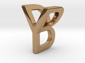 Two way letter pendant - BY YB in Polished Brass