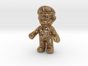 Mario Wireframe 100mm in Polished Brass