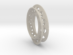 Moebius Ring 2  1.5mm Thickness  in Natural Sandstone