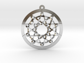 Woven Pentacles in Polished Silver