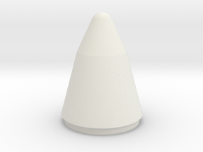 Titan IV Nose Cone 1:48 in White Natural Versatile Plastic