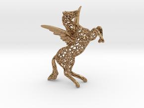 Pegasus Voronoi 80mm in Polished Brass