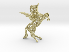 Pegasus Voronoi 80mm in 18k Gold Plated Brass
