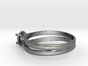Ø19.10 Mm Diamond Ring Ø4.8 Mm Fit in Polished Silver