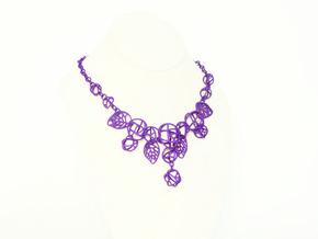 Cotton Roses NecklaceⅠ in Purple Strong & Flexible Polished