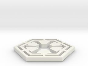 Star War Sith Empire Logo in White Natural Versatile Plastic