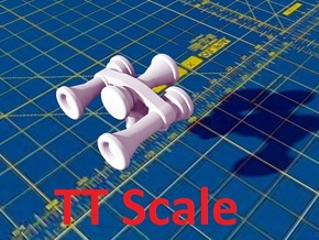 Locomotive 3 Chime Horns Type 3-3 TT Scale in Smooth Fine Detail Plastic