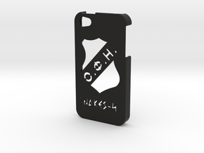 Iphone 4/4s OFI case in Black Natural Versatile Plastic