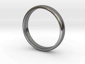 PA RingEasyCT12t08H3d165 in Fine Detail Polished Silver