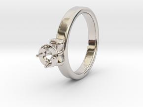 Ø20.4 Mm Bow Diamond Ring Ø4.8 Mm Fit in Platinum