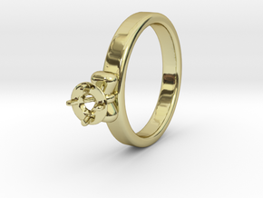 Ø20.4 Mm Bow Diamond Ring Ø4.8 Mm Fit in 18k Gold Plated Brass