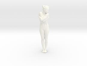 Female Dancer 005 scale in 1/18 in White Processed Versatile Plastic