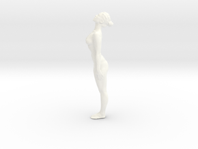 Female Dancer 010 scale in 1/18 in White Strong & Flexible Polished