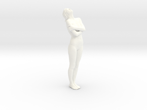 Female Dancer 008 scale in 1/18 in White Processed Versatile Plastic