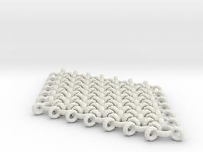 Interlinked Wave Single Pendant Earring in White Natural Versatile Plastic