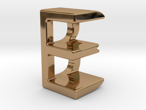 Two way letter pendant - BE EB in Polished Brass