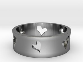 Lovers Series - Hearts in Polished Silver