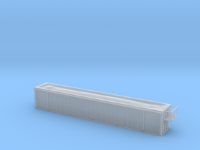Trash Gondola 53foot - HOscale in Smooth Fine Detail Plastic