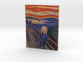The Scream (Edward Munch) V 2.0 in Full Color Sandstone