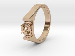 Ø20.57 Mm Diamond Ring Ø4.8 Mm Fit in 14k Rose Gold Plated Brass