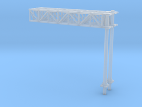 N Scale Sign Cantilever 54mm (2pc) in Frosted Ultra Detail