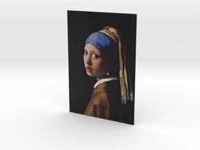 Girl With A Pearl Earring (Jan Vermeer) in Full Color Sandstone