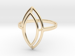 Marquise Simple Wire Ring - US Size 09 in 14K Yellow Gold