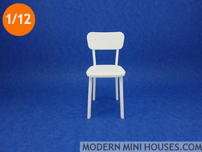 Deja-vu Chair 1:12 scale modern designer chair in White Processed Versatile Plastic