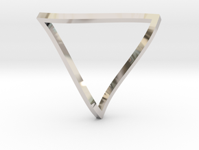 Penrose Triangle - thin in Platinum