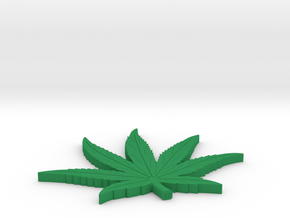 POT LEAF 1/16 inch thk in Green Processed Versatile Plastic