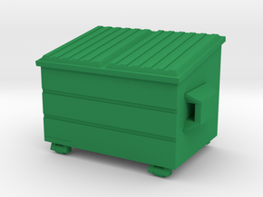 Dumpster 'O' 48:1 Scale in Green Strong & Flexible Polished