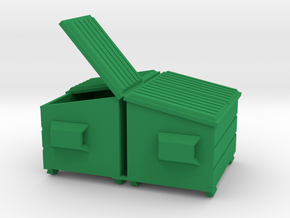 Dumpster - Mixed 'O' 48:1 Scale Qty (2) in Green Processed Versatile Plastic