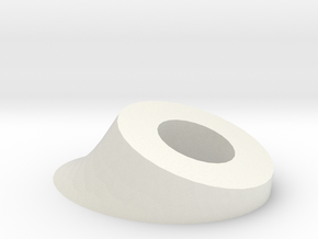 Ear Base in White Natural Versatile Plastic