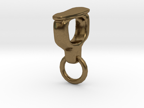 Ossicle Pendant - Stapes (right sided) in Natural Bronze