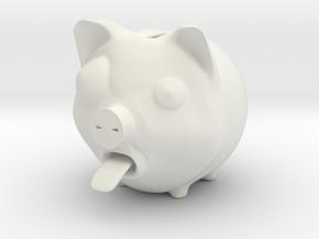 Piggy Banker in White Strong & Flexible