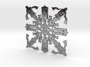 Doctor Who: Fourth Doctor Snowflake in Fine Detail Polished Silver