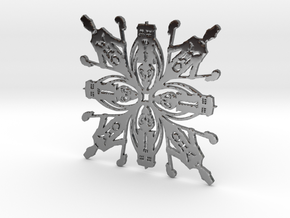 Doctor Who: Eleventh Doctor Snowflake in Fine Detail Polished Silver