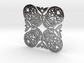 Calaveras Snowflake #2 in Fine Detail Polished Silver