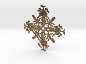 Hawaii Snowflake in Polished Bronze