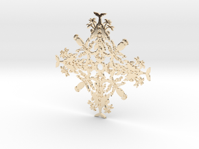 Hawaii Snowflake in 14k Gold Plated Brass