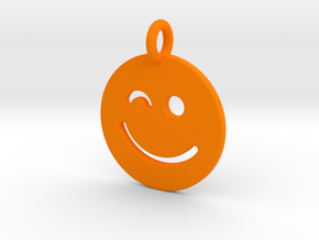 Smilie ( ) in Orange Processed Versatile Plastic