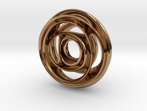Wheel Pendant in Polished Brass