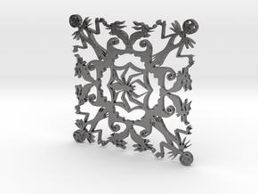 Nightmare Before Christmas Snowflake Coaster in Polished Nickel Steel