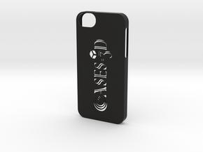Iphone 5/5s  with Logo in Black Natural Versatile Plastic