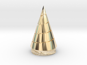 Gurren Lagann - Core Drill - Replaceable Drill Tip in 14k Gold Plated Brass