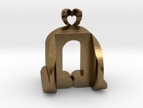 I♥U Shape 2 - View 3 in Natural Bronze
