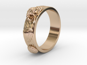 Urchin Ring 1 - US-Size 2 1/2 (13.61 mm) in 14k Rose Gold Plated Brass