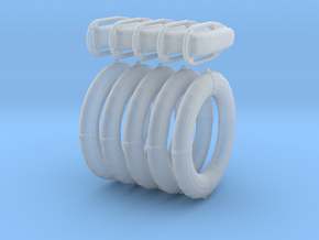 1/64 scale rescue ring & rescue can  in Smooth Fine Detail Plastic