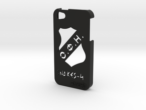 Iphone 5/5s  case OFI and logo in Black Natural Versatile Plastic